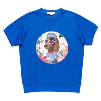 TROPICAL DOG PATCH 1/2 SWEAT SHIRT BLUE