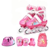 디즈니 프린세스 인라인세트 인라인+헬멧+보호대+가방
