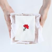 [Fabric]  카네이션 자수 컷트지