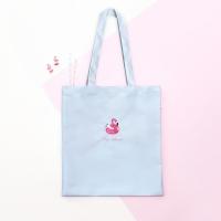 지유 에코백 - Flamingo swimmer