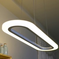 LED 타원아크릴 펜던트 30W