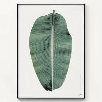 메탈 나뭇잎 식물 인테리어 포스터 액자 빅 리프 ver2