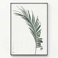 메탈 북유럽 식물 나뭇잎 인테리어 포스터 액자 Wind