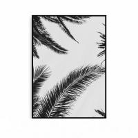 북유럽 식물액자 보타니컬 나뭇잎 메탈 블랙 프레임 그림