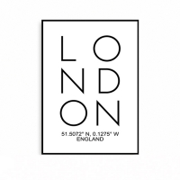 모던 북유럽 인테리어 타이포 대형 포스터 액자 런던