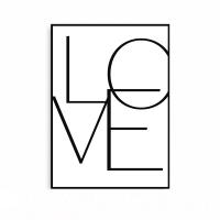 신혼집꾸미기 북유럽 인테리어 타이포 대형 액자 LOVE