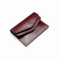 Ane DOUBLE CARD WALLET_BURGUNDY