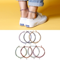 [Rainbow 발찌] 92.5 Silver Mini Bell Misanga Anklet