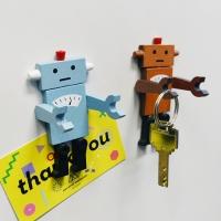 나무 로봇 냉장고자석_(379371)