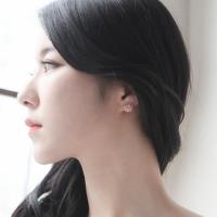 제이로렌 M01435 핑크바스켓 로즈쿼츠 켈세도니 원석 귀걸이
