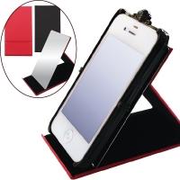 스마트폰홀더 겸용 휴대용 접이식 스탠드 손거울