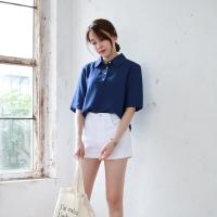 Modern linen collar shirts