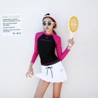 체리페리 배색 레쉬가드(핑크)[70065]