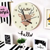 북유럽 감성 원형 무소음벽시계 (사슴)