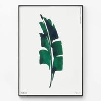 메탈 북유럽 식물 나뭇잎 그림 액자 어 리프 수채화