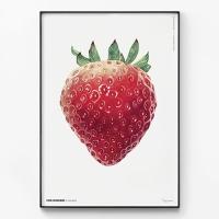 메탈 북유럽 딸기 그림 일러스트 액자 마이 스트로베리
