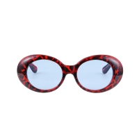 Roswell Original Glossy Red Leopard / Blue Tint Lens