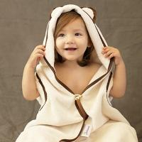 [졸리아미]신생아 목욕앞치마&멀티후드타올 곰(신생아~키즈)