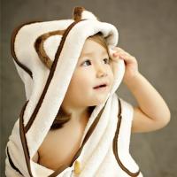 [졸리아미]신생아 목욕앞치마&멀티후드타올 고양이(신생아~키즈)