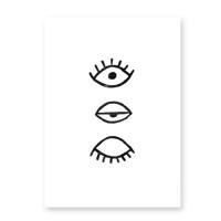 [파인리틀데이_Fine Little Day]Eye Eye Poster_Black(50x70cm)
