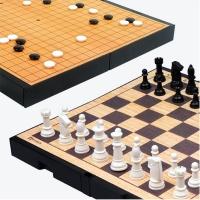 [명인바둑] 중형 자석 바둑+체스(양면) M-250 /보드게임_(1517810)