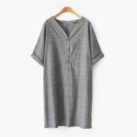 Simple pin-stripe DRESS (2-color)