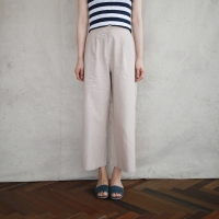 Linen wide pintuck pants