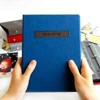 THE MOMENT 접착식앨범X스크랩북 바인딩 포토앨범-딥블루