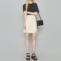 linen two slit skirt (3 colors)_(366280)