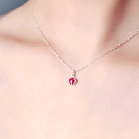 [하우즈쉬나우] Shall We Kiss, 사랑의 루비 necklace (7월 탄생석)