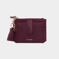 [태슬+스트랩증정]Dijon 301S Flap mini Card Wallet burgundy