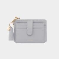 [태슬+스트랩증정]Dijon 301S Flap mini Card Wallet light grey