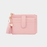 [태슬+스트랩증정]Dijon 301S Flap mini Card Wallet light pink