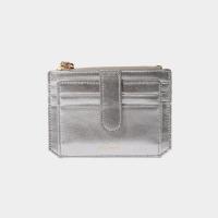 [살랑]Dijon 301S Flap mini Card Wallet silver