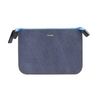 Leather Mini Pouch _ Aqua Blue