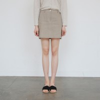 Back banding Linen skirt