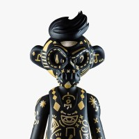 EPICASE Art Figure Skulkey Gold