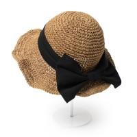 [베네]블랙 리본 와이어 모자