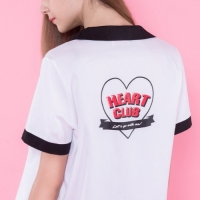 Heart back point shirts (2colors)