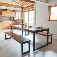 고운 멀바우원목 8인 식탁세트(벤치형)