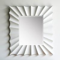 F 044 글로시 화이트 벽거울