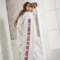UNISEX Side Printing Long Sleeve-Ivory