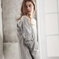 UNISEX Side Printing Long Sleeve-Grey