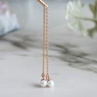 진주 캔디 체인 귀걸이(6월탄생석)pearl candy chain earring