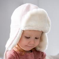[CTH MINI] 알레스카 헤링본 핑크 유아동 귀달이모자