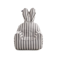rabito chair small cover (Vintage gray Stripe) - 이너 별도 구매