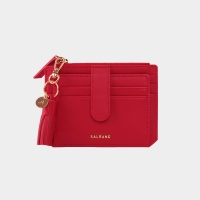 [태슬증정]Dijon 301S Flap Card Wallet cherry red