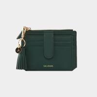 [예약발송5월25일][살랑]Dijon 301S Flap Card Wallet olive green