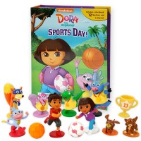 Dora the Explorer Sports Day! My Busy Book 피규어북