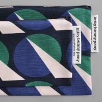 futurism navy pouch